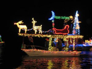 2011 - Bobby Maclin with another great winning entry to light up the Bayou Vista canals. Thanks again, Bobby.
